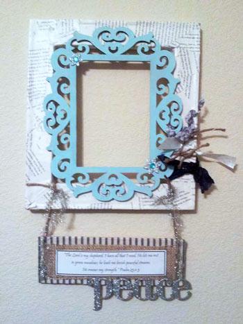DIY decor | frame | scripture | message | wall decor | craft | vibranthomeschooling.com