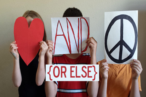 "Our kids need to learn to get along!!! We've declared ""Love and Peace (Or Else)"" [VibrantHomeschooling.com]"