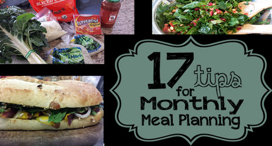 monthly meal plan | meal planning tips | vibranthomeschooling.com