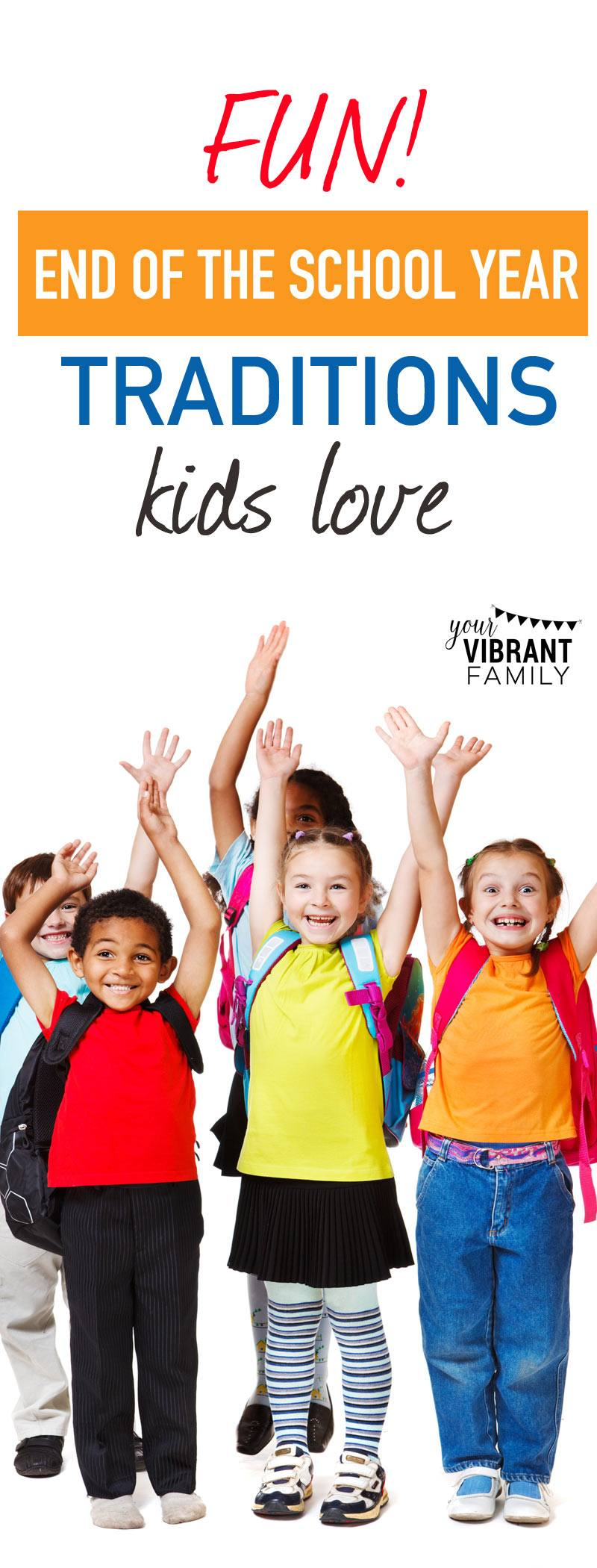 Celebrate the end of the school year with these 3 fun family traditions we do each year! Your kids will love these special annual family traditions. What a great way to welcome summer break!