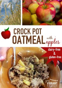This recipe for Crock Pot Oatmeal with Apples is so awesome that I had all four kids (and hubby) licking the bowl clean. And did I mention super easy since the slow cooker does all the work? Creamy but still a little chewy, just the right combination of spices and sweetness. Plus it's dairy and gluten-free, and no processed sugars (and whatever else you might find in those odd little oatmeal packets).