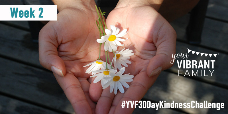 This week's challenge is about showing kindness to our community. We'll explore some simple ways we can show our community kindness (with kindness activities, family discussion questions, Bible verses, and more). Join us for the Your Vibrant Family 30 Day Kindness Challenge and let's spread kindness to those in our community! #YVF30DayRandomActsofKindnessChallenge