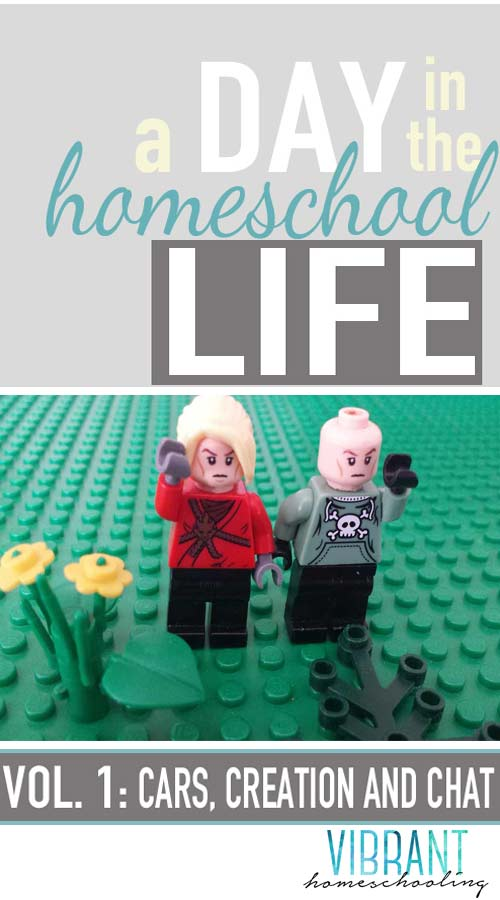 """WARNING: THIS POST CONTAINS AN UNEDITED LOOK at a typically untypical homeschool day in the life of our family. You may find yourself laughing or even thinking """"Sounds like us!"""" LOL Vibrant Homeschooling"""