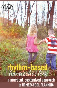 Want to learn the secret to restful, peaceful homeschool days (and a schedule that works)? You'll love these tips on rhythm-based homeschooling from a homeschool mom of four.