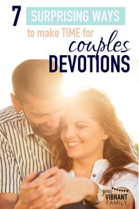 You want to read the Bible with your spouse. But life is so darn busy! How in the world can it happen? These 7 tips (and 10 amazing devotional resources!) will make all the difference. Couples devotions aren't just for married couples without kids!
