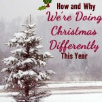 What do you want Christmas to be really about? One family decided they needed to shake things up a bit this year and to do Christmas differently. Read and be inspired to see if your family needs a different Christmas this year too.