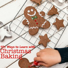 "10+ easy and fun ways to naturally teach math this Christmas through baking! Day 10 of ""12 Days of Christmas Teachable Moments"" series by Vibrant Homeschooling"