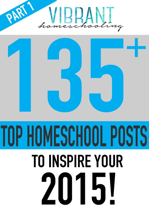 WOW!!! The best 135 homeschool posts from 2014 from over 45 homeschool bloggers! Great inspiration and encouragement here for the second half of the school year! (Part 1 of 2) Vibrant Homeschooling