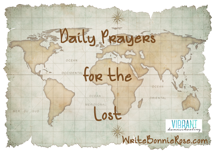 How can we remember to pray for believers in faraway places, and how can we remember to pray for those who have yet to believe? Practical ideas here to do with the kids. Vibrant Homeschooling