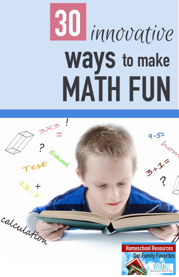 I really don't like math. And yet, everyday I have four children before me who need to learn math. So here's how we make math fun (for their sake and for my own)!