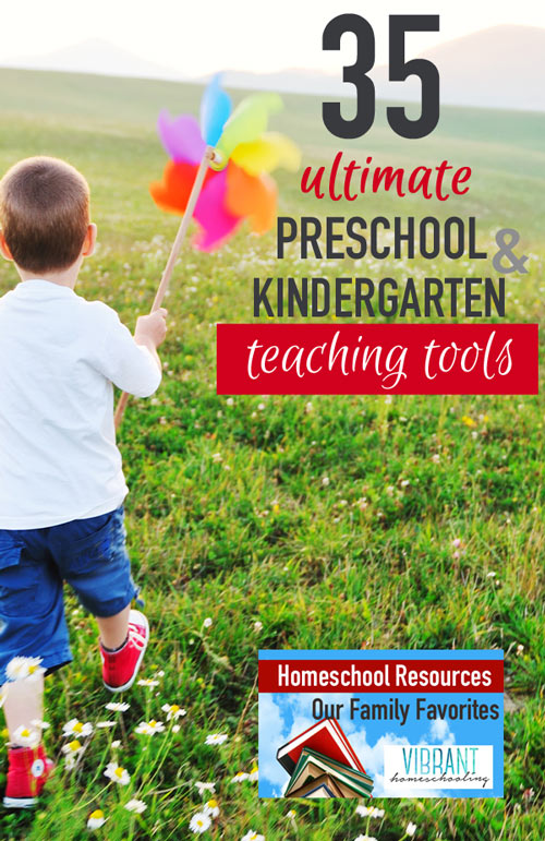 You've got to see this list of Preschool and Kindergarten teaching tools! Lots of wonderful recommendations here from a homeschool mom of four. Are your favorites listed? Vibrant Homeschooling