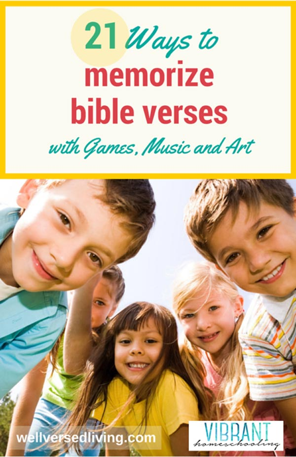 Does the idea to memorize Bible verses make you shudder…or smile? Scripture memory can be fun! Try this list of games for bible memorization, plus other engaging songs and craft ideas with your kids - and discover how quickly (and joyfully) you can add bible memorization to your family's everyday life.