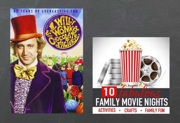 Willy Wonka and the Chocolate Factory Family Movie Night: Conversation starters, Family Friendly Crafts, Birthday Party Ideas and More! It's all part of the Fabulous Family Movie Nights Series at Vibrant Homeschooling. A new movie every Thursday through August 27!