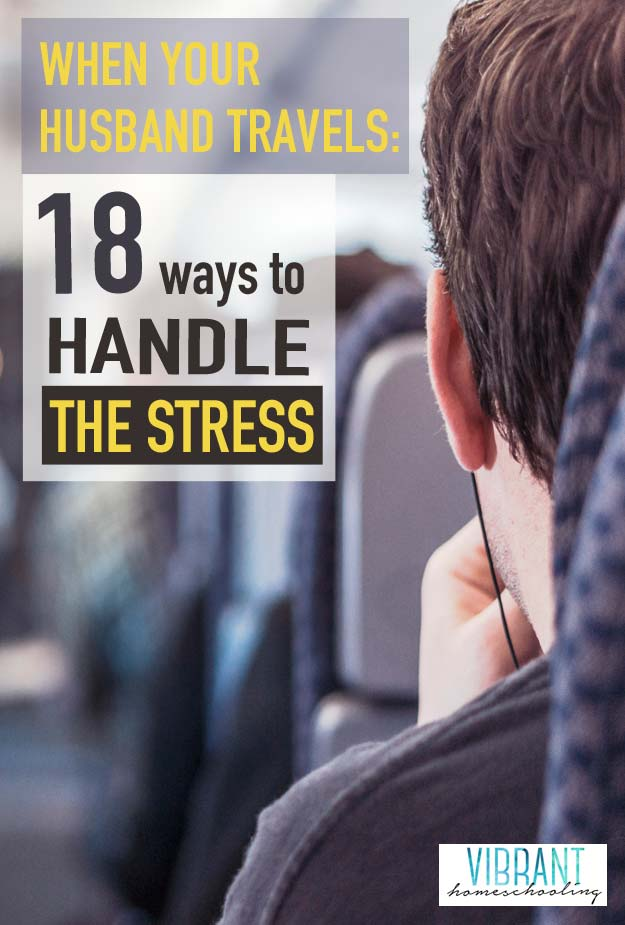 My husband is the love of my life and my best friend. Which is why it is so hard for me when my husband travels! However, after 14 years of marriage, here are the 18 ways that I handle the stress of his heaviest business travel seasons.