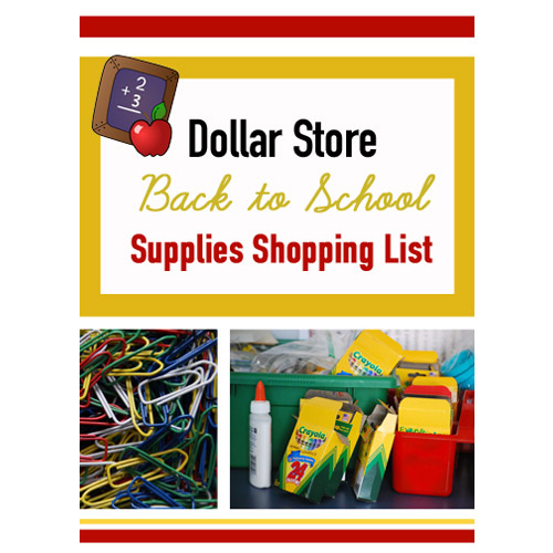 Don't miss this Dollar Store Back to School Supplies Shopping List inventory! What a great resource!