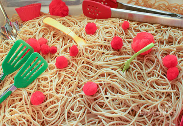 Chew on great lessons about consequences with a Cloudy With A Chance of Meatballs Family Movie Night! This post has great crafts, activities (and even a spaghetti and meatballs sensory bin!)