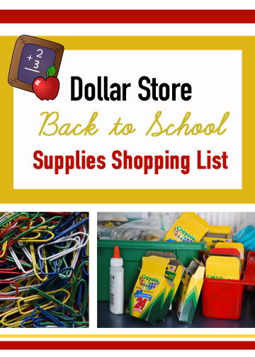 Dollar Tree Back to School Supplies Shopping List. 191 items, divided into 14 categories! What a great resource!