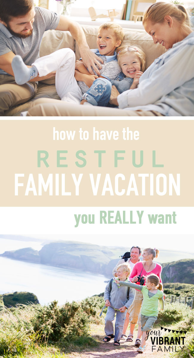 Ever needed a vacation from your vacation? I sure have. Exploring new places is fun, but the truth is, that what most families on vacation really need is one thing: Rest. True, soul-filled replenishment. And while that sounds like a tall order, it's totally possible! Here how this family of six is making it happen year after year… and how your family can have restful family vacations too (really!). 21 fantastic tips here!
