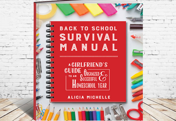 The Back to School Survival Manual helps homeschool moms develop core strategies and systems to successfully set up a homeschool. This amazing new tool is a systematic way of looking at the year and readying yourself—and your homeschool—for whatever may come. Purchase this book by itself or as part of new Back to School Product Bundles!