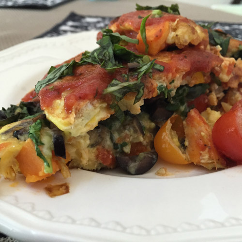 Italian Frittata with Sausage and Vegetables