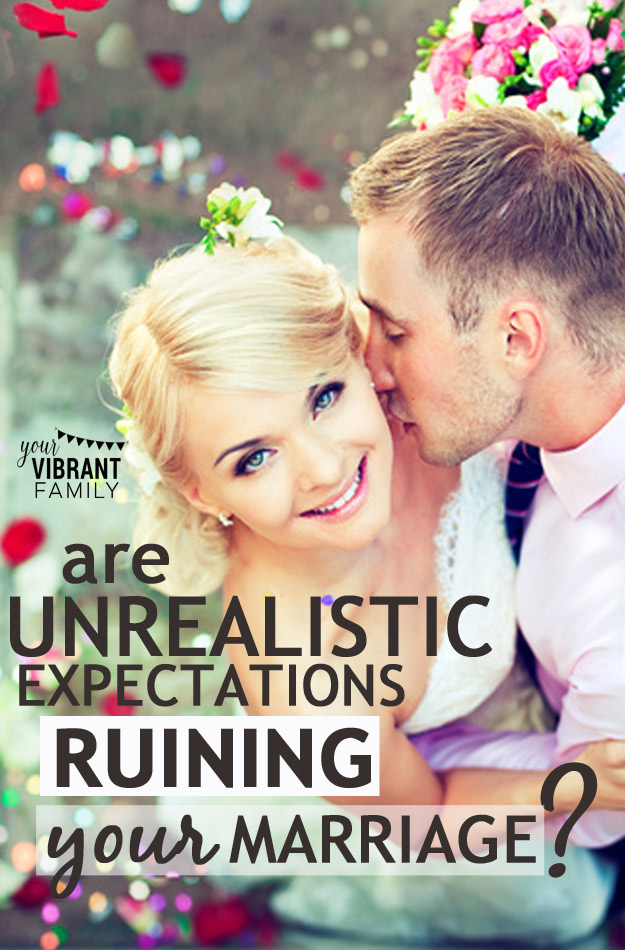 """I have conversations all the time with an imaginary man. In fact, I'll bet you do too. You see, we develop these unrealistic expectations of how our marriage should be (and especially how our husbands """"should"""" treat us). And on days when real married life is less than ideal, we imagine how our fantasy spouse--let's call him """"Prince Charming""""--would act in that moment. Prince Charming gives the """"perfect"""" answer our your feelings, right? He says things like: """"Oh, honey, you're so right. Let me draw you a bath and give you a neck message as you tell me all about it."""" Prince Charming knows exactly what we need, and is more than happy to give it to us gift-wrapped with a lovely red bow. He is completely selfless and at our beck and call. And if we let him invade our mind regularly, this fantasy guy can also be a silent marriage killer. How can we deal with unrealistic expectations in marriage?"""