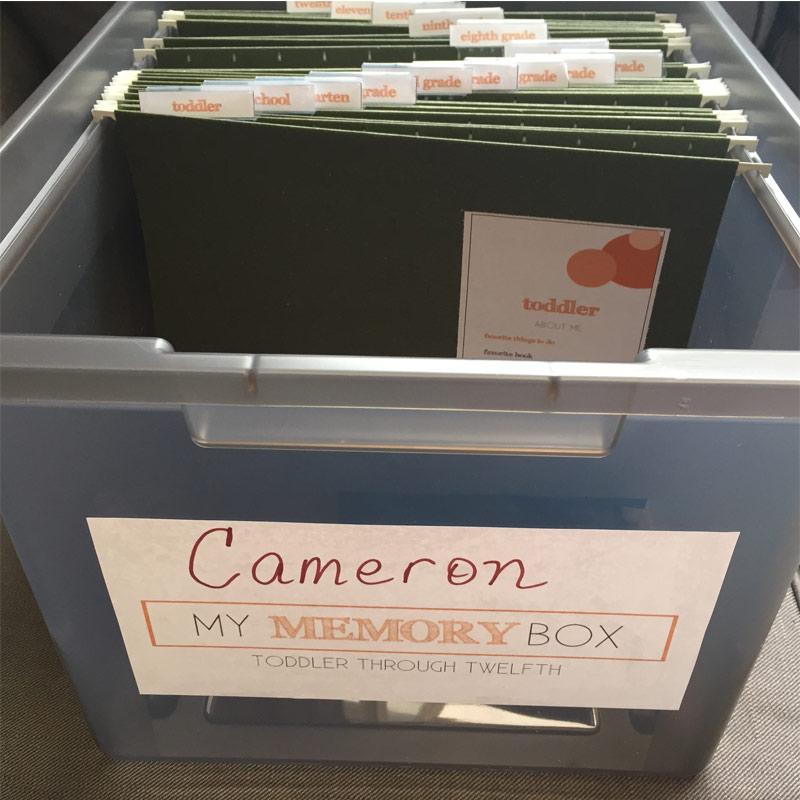 school memory box