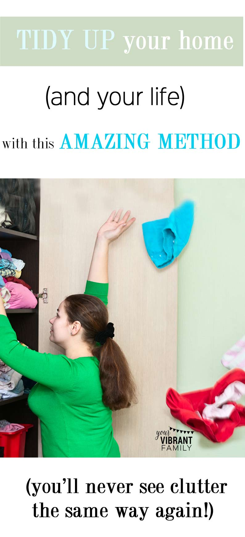 Tired of all the clutter and ready for change? This incredibly powerful organizing method not only will get your closets organized but will restore your spirt and make over your life. You'll wonder how you ever lived without this amazing tidying up method!
