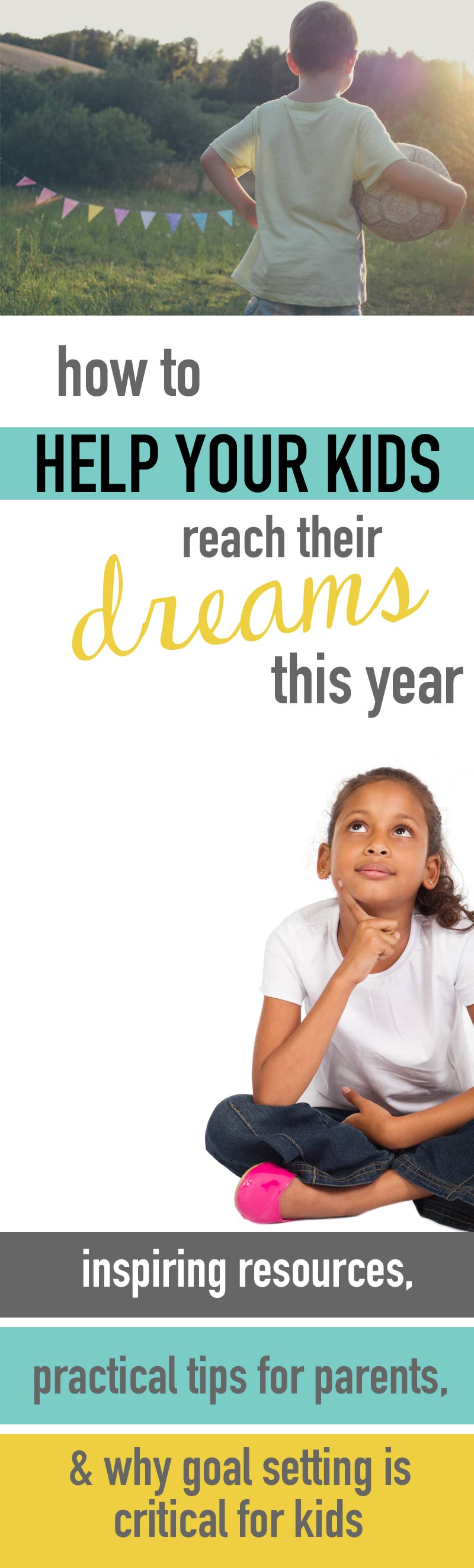 Goal planning for kids! I haven't seen anything else out there like this so I'm so glad I found this for my kids this year. How to help your kids set goals, make plans and go for their dreams! Goal setting resources, powerful tips for parents and more.