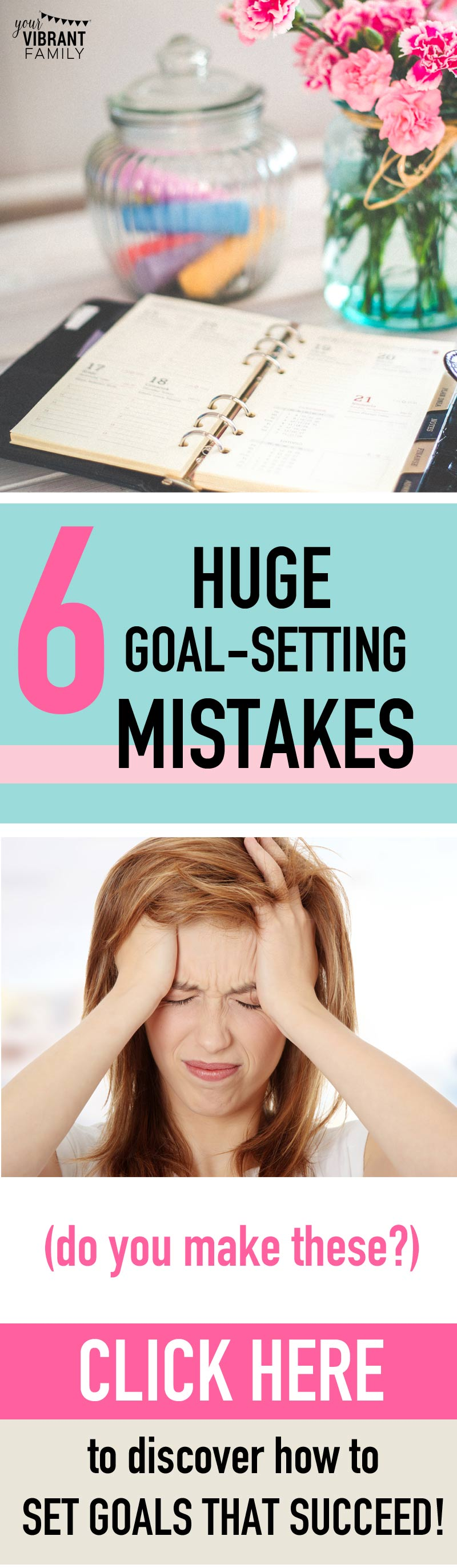 TIRED OF MAKING NEW YEARS GOALS THAT DON'T WORK? You may be making these 6 big goal setting mistakes. I made them for a long time (especially #1)... I'm actually excited to set New Years resolutions now because I can finally meet my goals and feel successful (no more guilt)...
