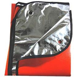 tarp or emergency blanket for survival kit