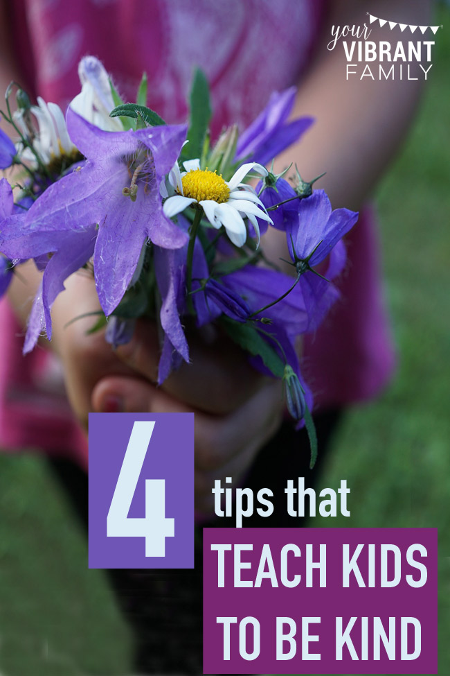 Teaching kids to be kind isn't a simple three-step lesson plan that fits every kid. Teaching kids kindness is messy, unexpected and requires that we, ahem, show kindness ourselves. Teaching kids about kindness is an ongoing lesson that requires intentionality and ongoing grace. That's because unkind words seem to jump out of nowhere at the most inconvenient moments. As imperfect family members living in close quarters, we tend to bring out the worst in each other, don't we? How can we realistically teach kids to be kind? Here are 4 great tips!