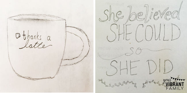 DIY Sharpie Mug designs