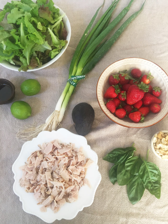 Strawberry Chicken Salad with Cashew, Basil and Lime - Page 2 of 2 ...