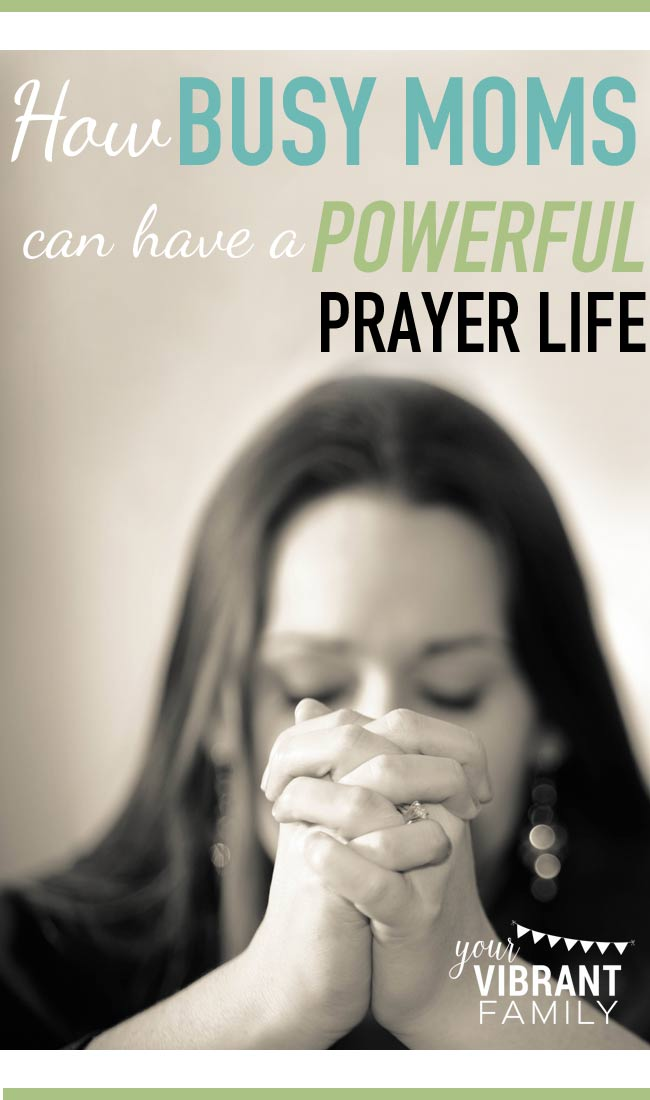 You want to pray more, but HOW does it happen when life is so chaotic? These 23 tips will help you discover how YES you can have a powerful prayer life even as a busy mom. Learn 9 ways that prayer can change everything for your family, 2 things your prayer life must have; How to make prayer a priority even when you feel time-strapped; 6 incredible resources that give specific plans on how to pray for our husband and/or kids; What your prayer room can look like (video), and 6 ways to make can make prayer work as a busy mom! Don't miss this amazing post full of fabulous resources!