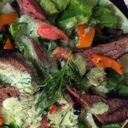 Looking for a healthy salad that's easy to make and is bursting with the amazing flavors of barbecue (and specifically the awesomeness of Tri Tip)? Oh man, have I got a salad for you (especially if you have meat lovers in your family)! You've got to try this tasty BBQ Tri Tip Salad with Lime Dill Dressing!