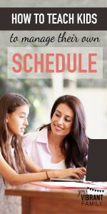 Little by little, we need to introduce ourkids to the concepts of goal-setting, time management and self control. What better way to do that than to teach them how to create arealistic weekly schedule? Learn a step-by-step method for how your kids can create their own schedules! This scheduling method is easy and adaptable to fit any child, tween or teen!