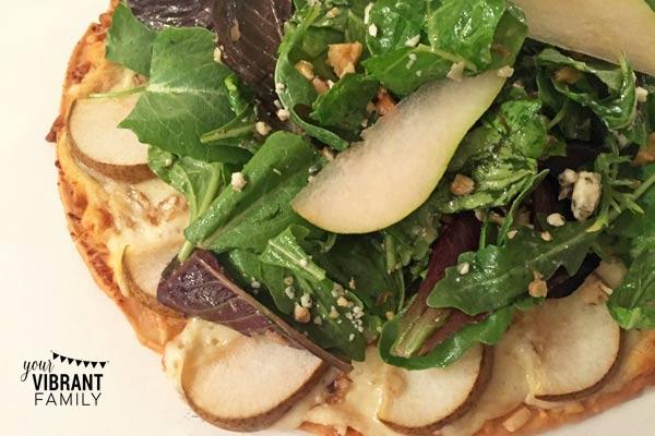 Pear and Gorgonzola Salad Pizza