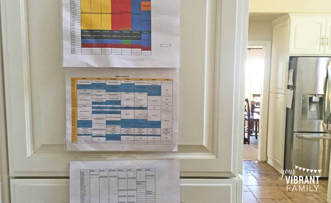 schedules-on-wall
