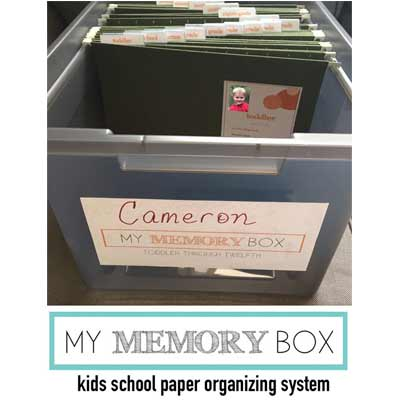 MY MEMORY BOX: KIDS SCHOOL PAPER ORGANIZING SYSTEM