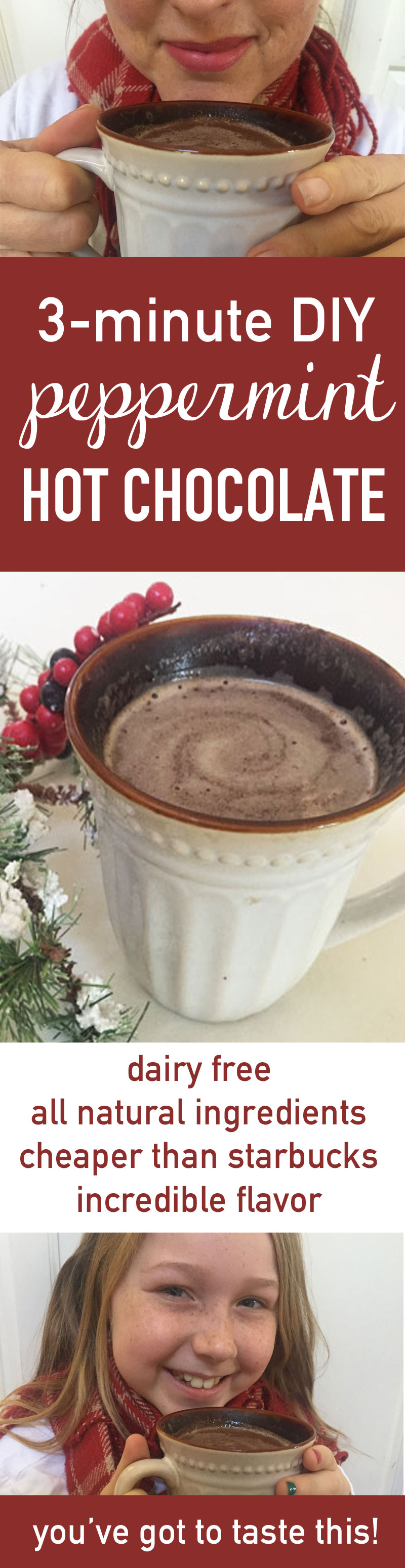 Peppermint hot chocolate recipe | peppermint hot chocolate | make peppermint hot chocolate | peppermint hot cocoa | make peppermint hot cocoa | candy cane hot cocoa | candy cane hot chocolate | candy cane hot chocolate recipe | candy cane cocoa | hot chocolate candy cane | hot cocoa | hot cocoa recipe | dairy free hot chocolate