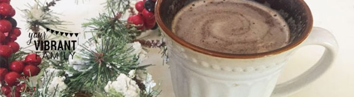 DIY Peppermint Hot Chocolate that's dairy free, easy to make, ready in under 3 minutes, all natural, cheaper than Starbucks, tastes great, and your family will love! Get the recipe here!