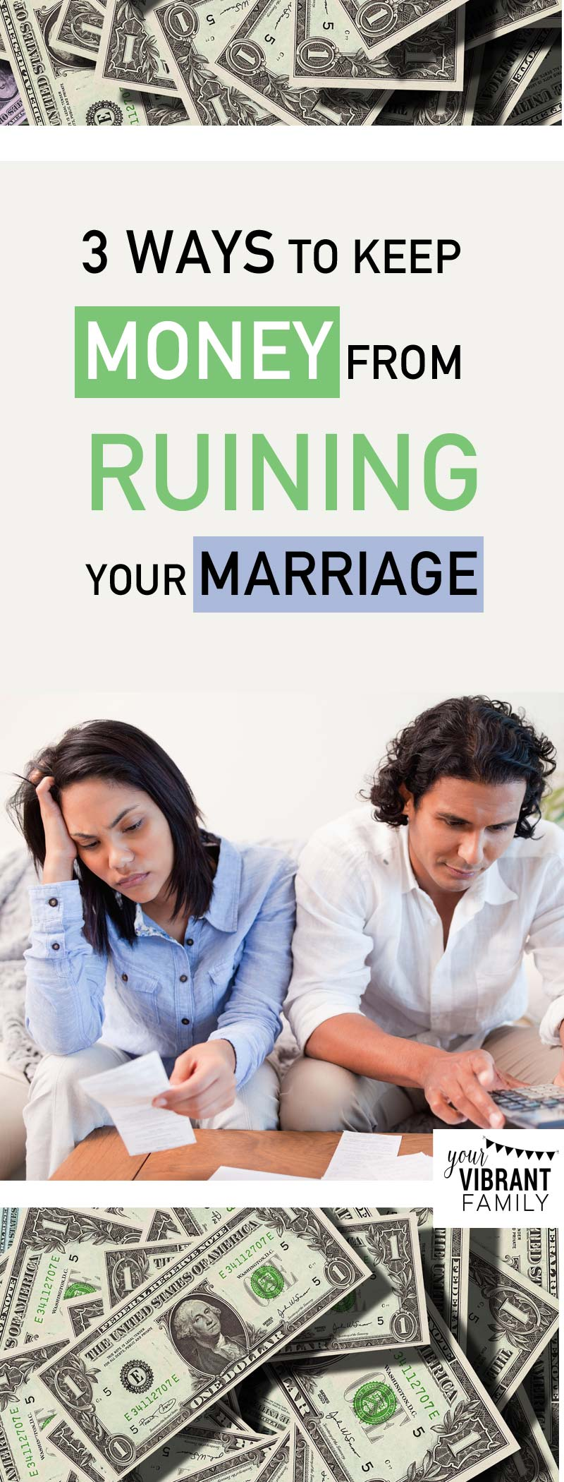 In marriage, money issues are one of the biggest conflicts! Here's how to keep money from ruining your marriage. #2 might surprise you… great marriage advice here from the experts!