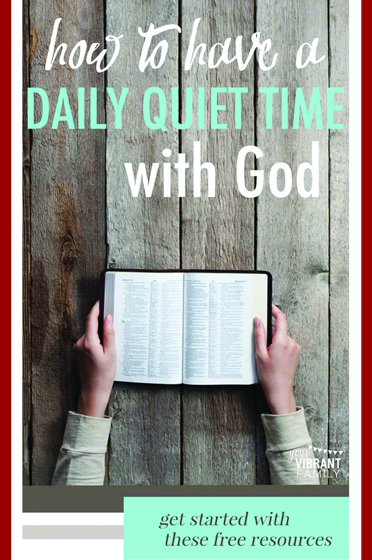 Want to know God and to grow closer to Him? The best way is have a daily quiet time: A regular time each day where you spend time with God through Bible reading and prayer. Let me share with you what I've learned about how to have a rich and meaningful daily quiet time with God. Plus, I want to teach you an easy Bible study method for your quiet time! #quiettime #howtostudythebible #biblestudyforbeginners #biblestudyforwomen #growclosertochrist via @UrVibrantFamily