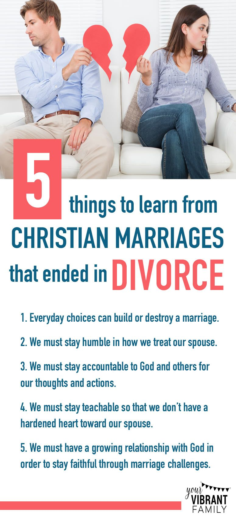 5 Things to Learn from Christian Marriages That Ended in