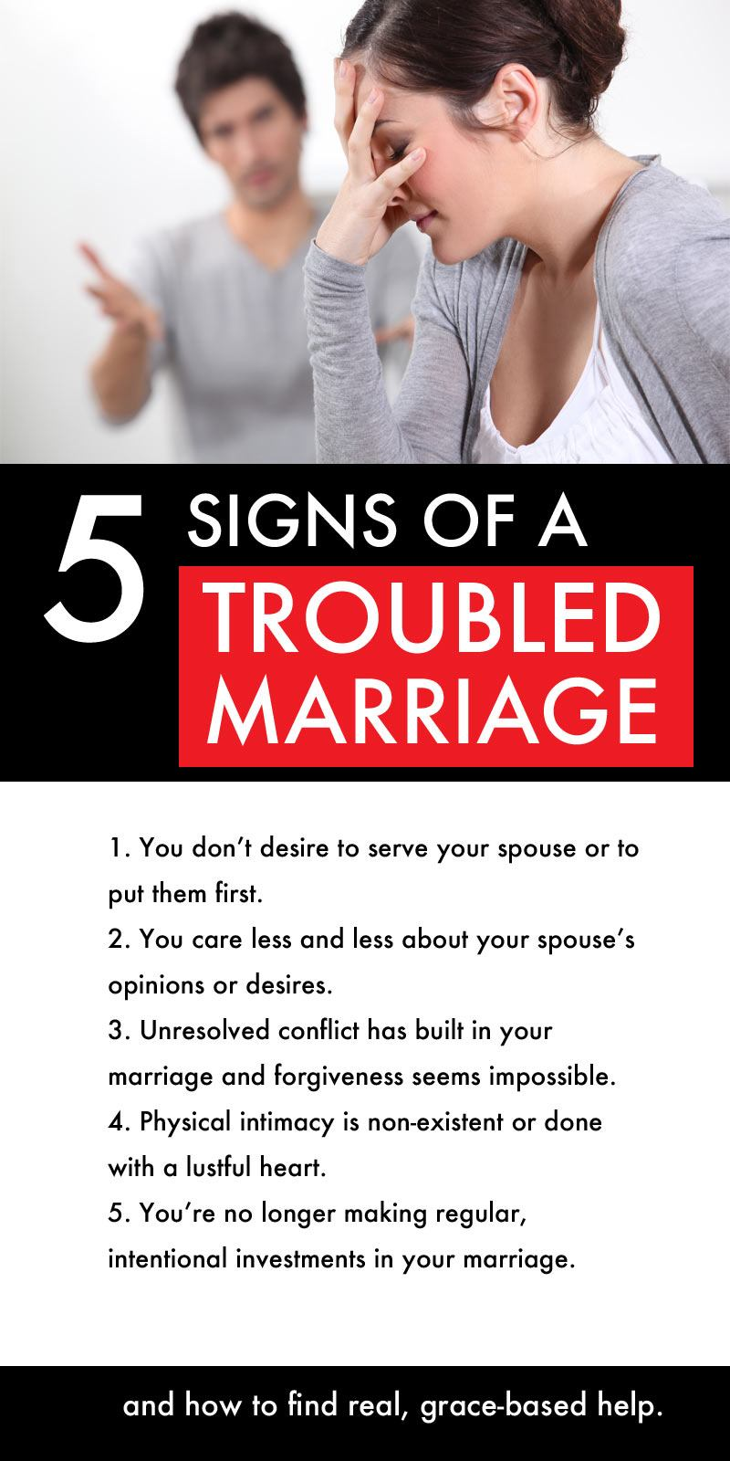 signs of a broken marriage | Christian marriage issues | troubled marriage advice | signs failing marriage