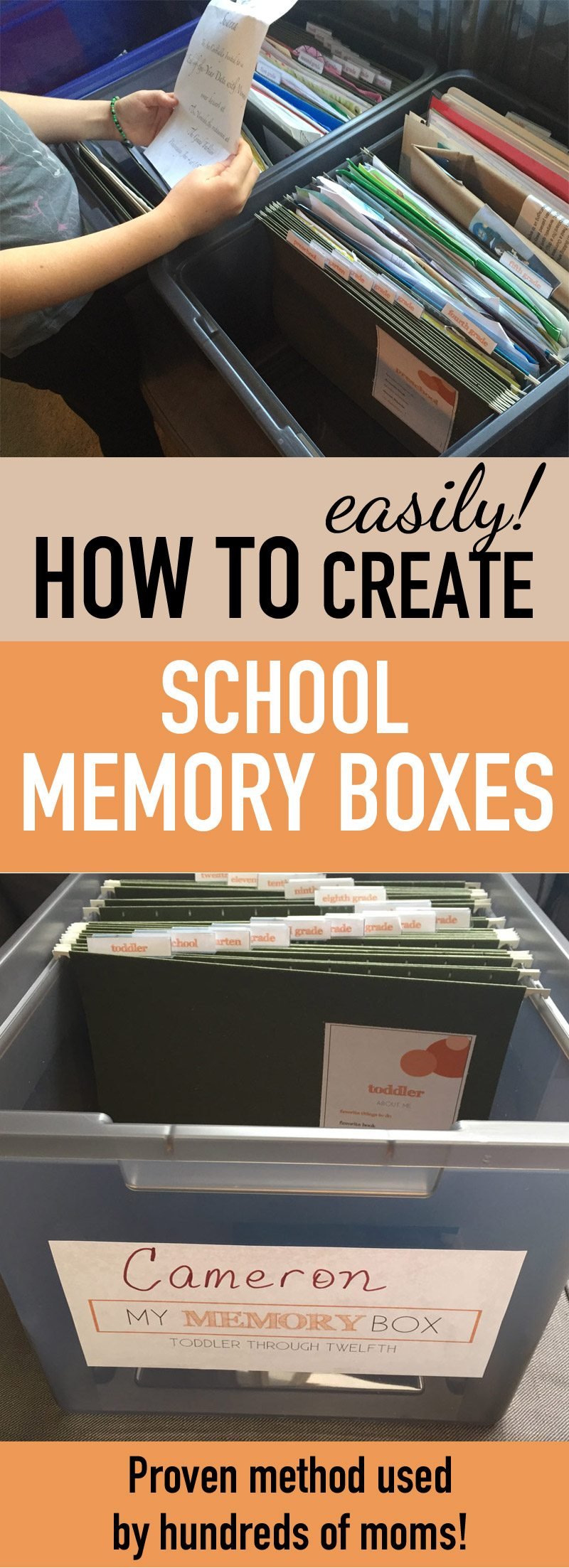 school keepsake box | organize kids school papers | school papers kids | keepsake memory boxes | memory box ideas | school papers kids